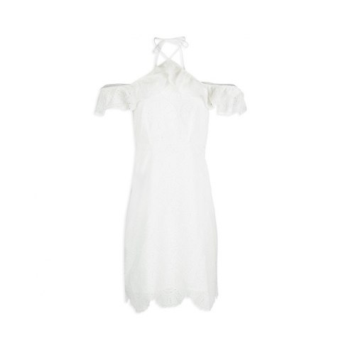 Morgan dress RIBIZA.N OFF WHITE
