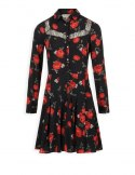 Morgan dress RANIAN.F NOIR/ROUGE
