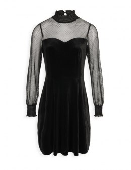 Morgan dress REBECA.P NOIR