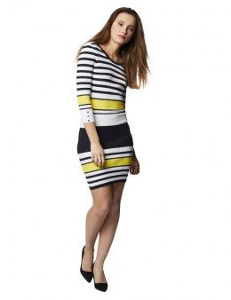 Morgan Dress RMINO.N NIGHT/CITRON