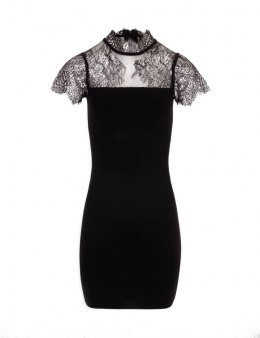 Morgan dress RMLUX.N NOIR/ARGENT