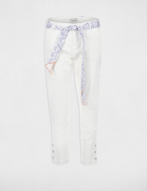 Morgan Pants PCHINO.N OFF WHITE