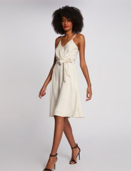 Morgan Dress RALERM.F OFF WHITE/SAFRAN