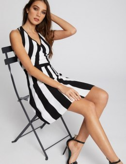 Morgan Dress RMKARA.N NOIR/OF WHITE