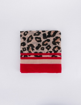 Morgan Shawl 5LEOPI.P ROUGE