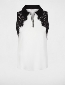 Morgan Blouse DAPOLA.N OFF WHITE/NOIR