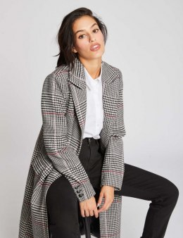 Morgan Coat GCLOE.N NOIR/BLANC