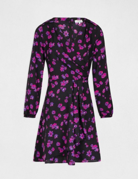 Morgan Dress RVELT.F NOIR/ULTRA VIOLET