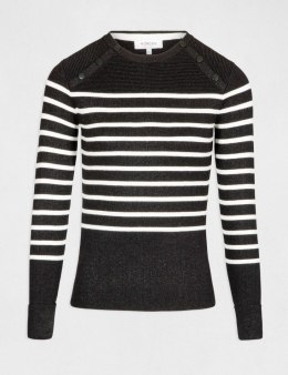 Morgan Sweater MLEA.N NOIR/OFF WHITE