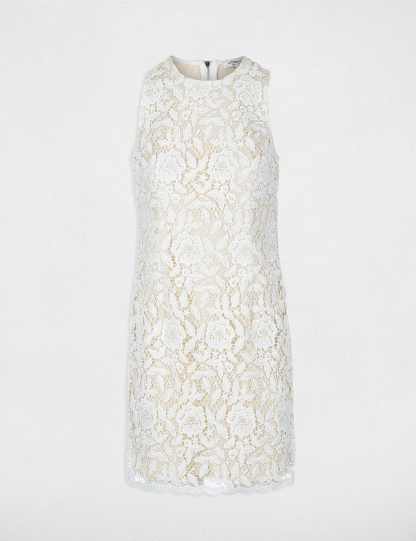 Morgan Dress RICAT.P OFF WHITE/NUDE