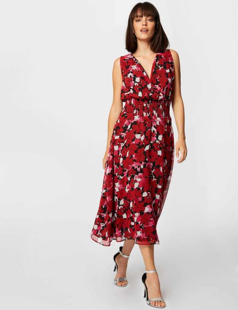 Morgan Dress RFLO.F CHERRY